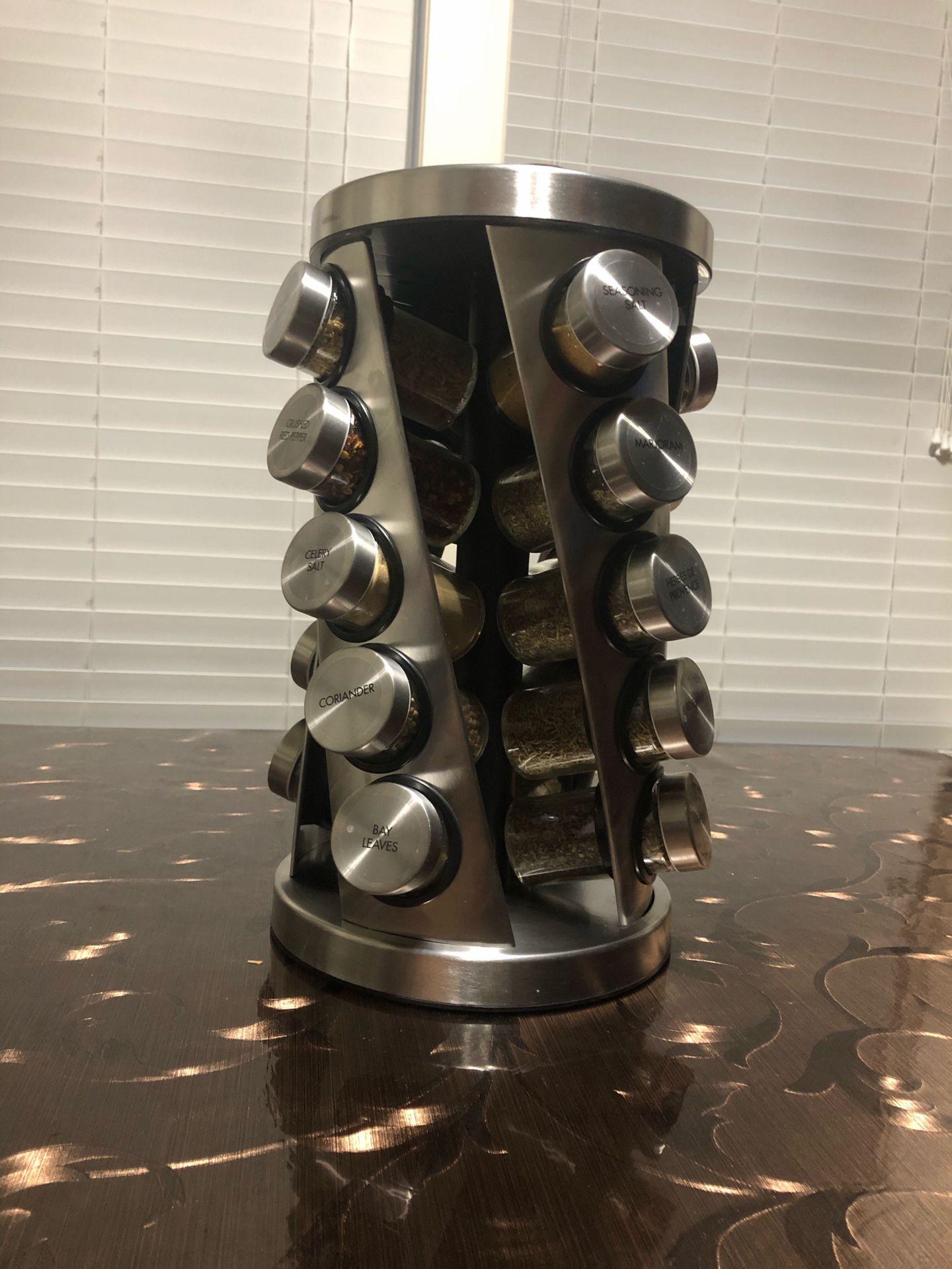 20 jar revolving spice tower
