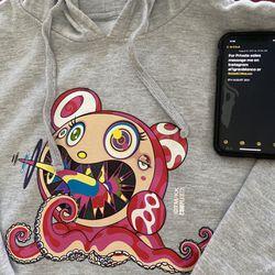Takashi Murakami Complexcon 2017 Hoodie Mr Dob Dobtopus Logo Long Beach Size L Thumbnail