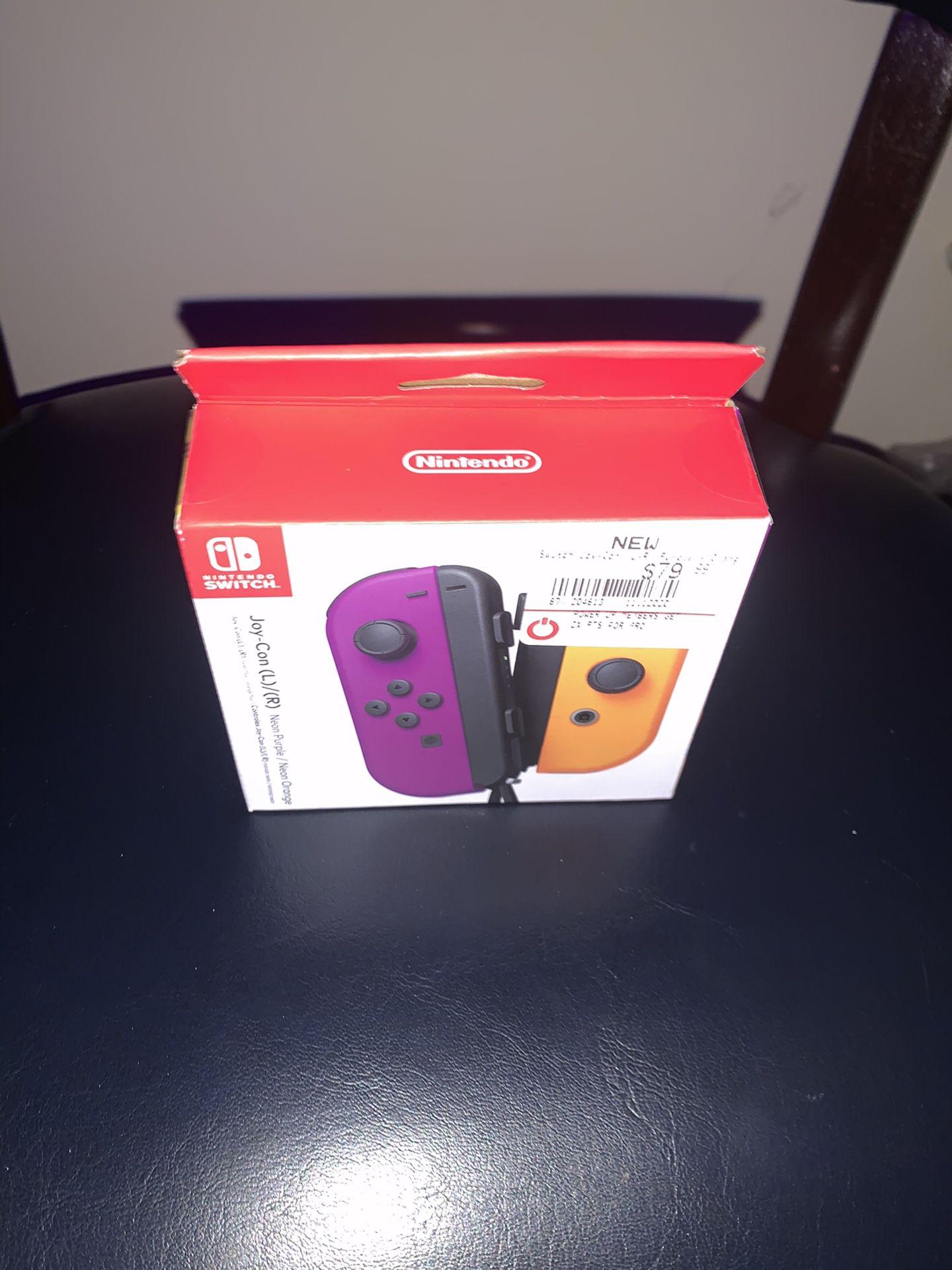 Nintendo Switch Controller Purple/Orange Brand New!