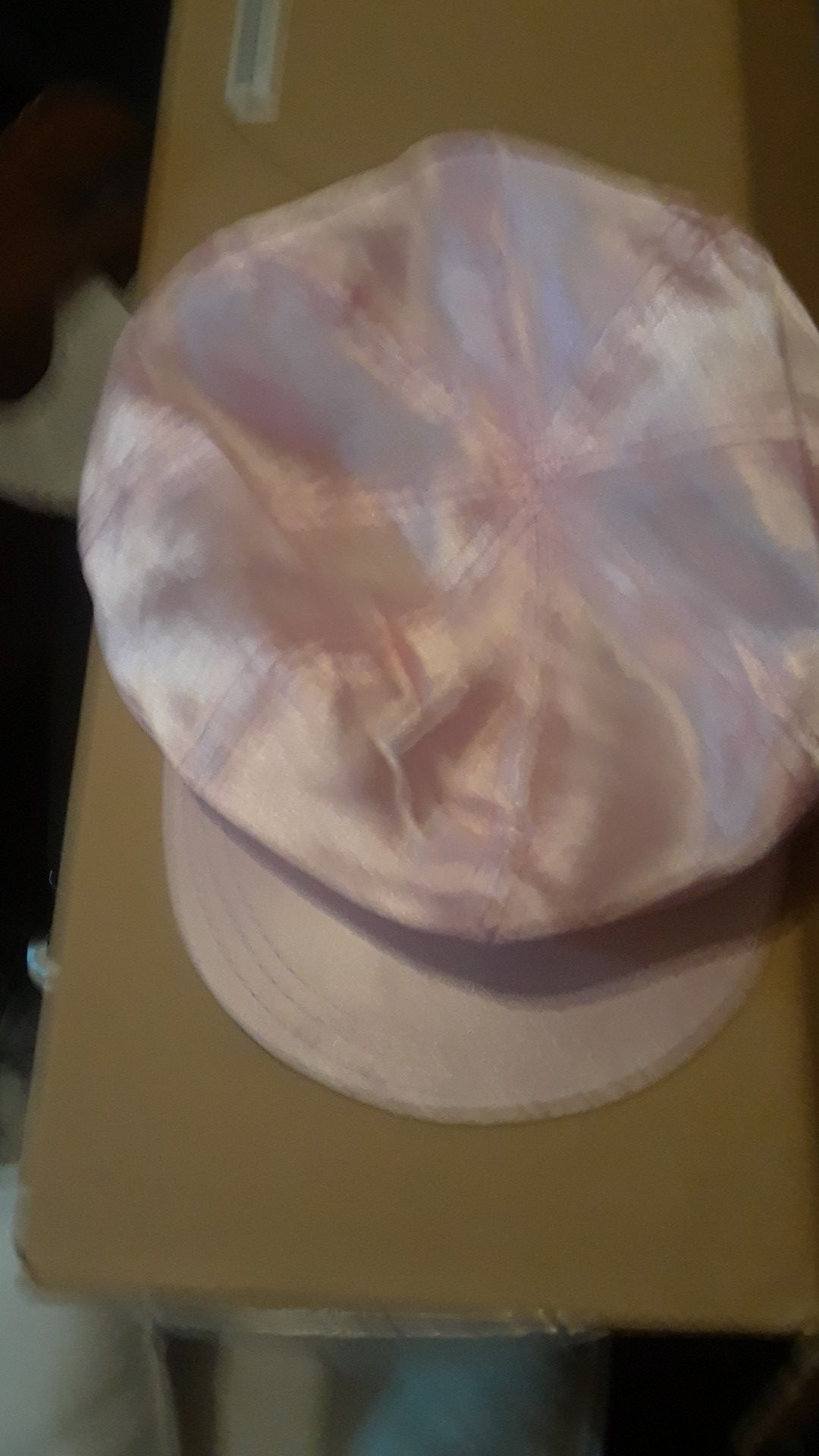Brand new satin pink hat