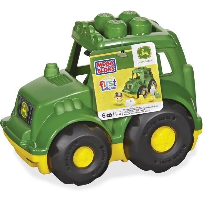 Mega Bloks MBLCND89 First Builders John Deere Tractor Set