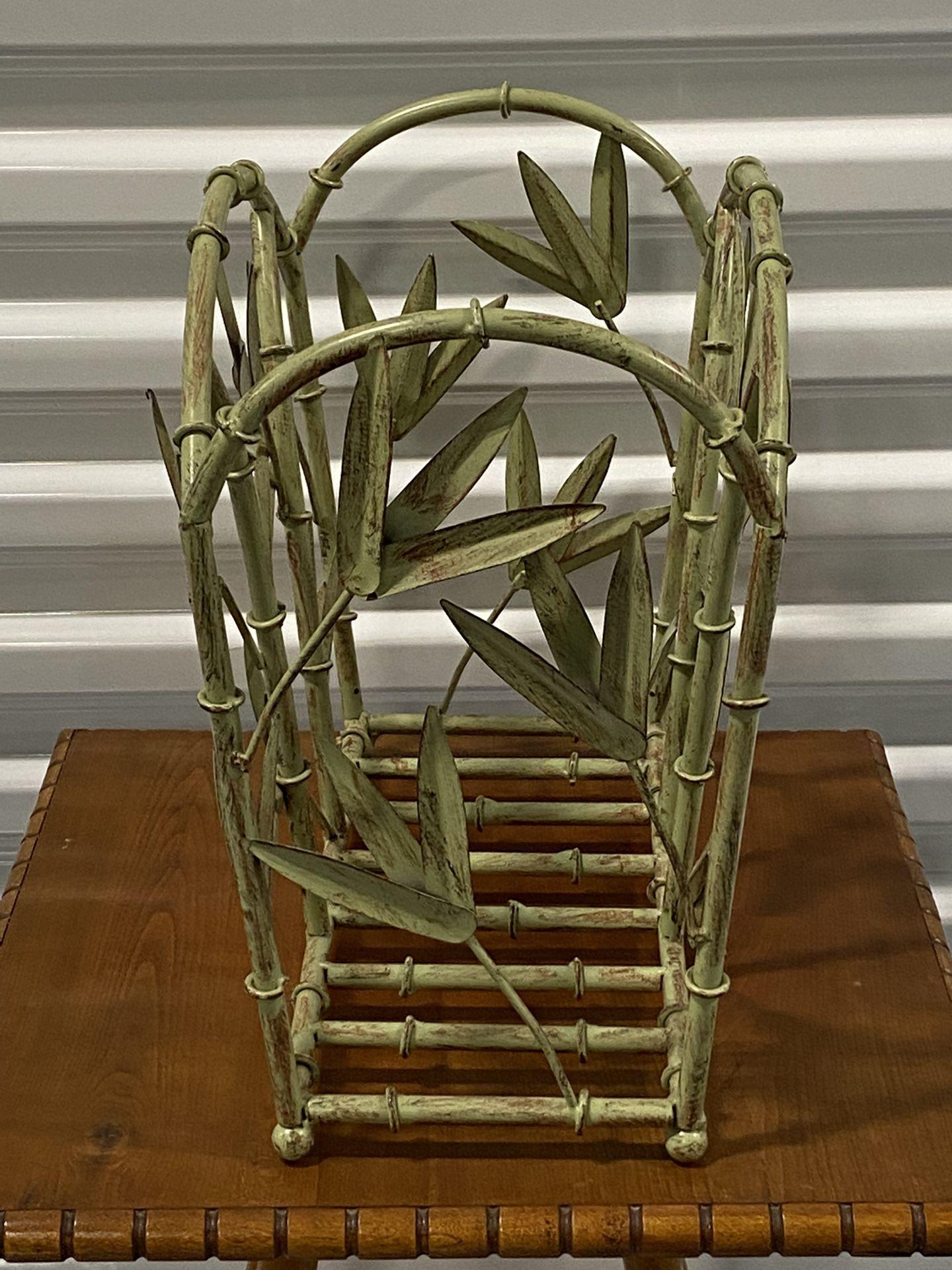 Heavy Metal Bamboo Design Storage Rack