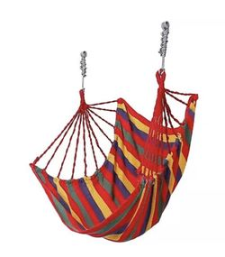 Deluxe Hanging Rope Chair  *Canvas Porch Swing/Yard Garden/Patio Hammock * $50/each or 2/$85 Rainbow  Thumbnail
