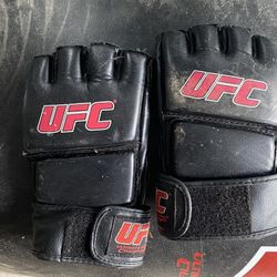 UFC gloves and heavy bag Thumbnail