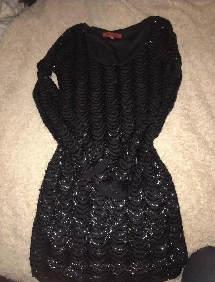 Sparkle mini dress black