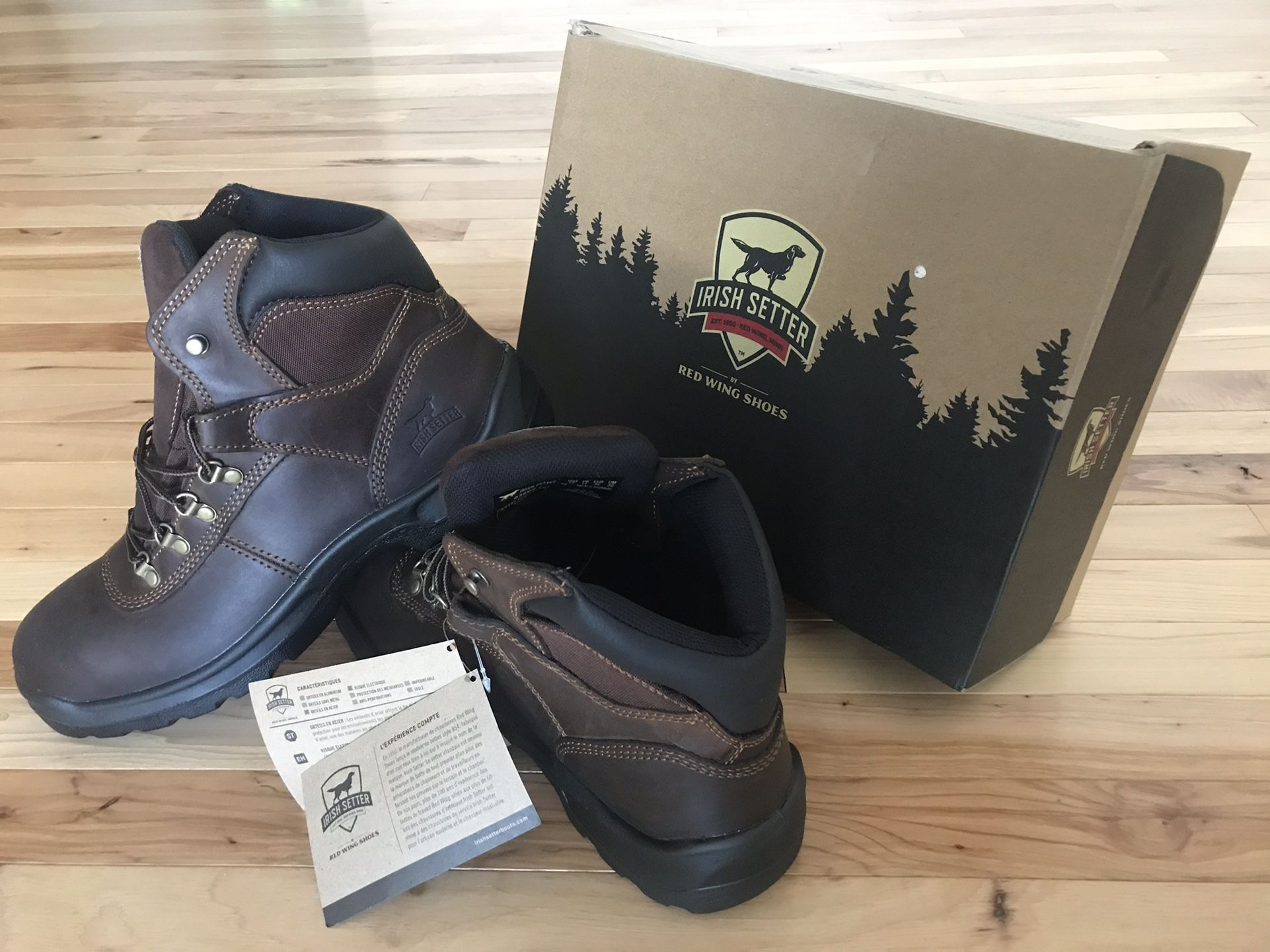 Red Wing Boots(Leather), Irish Setter . Steel Toe Safety Boots !! Size 12 , Brand New in Box !!!!