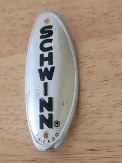 Chrome Schwinn Head Badge Thumbnail