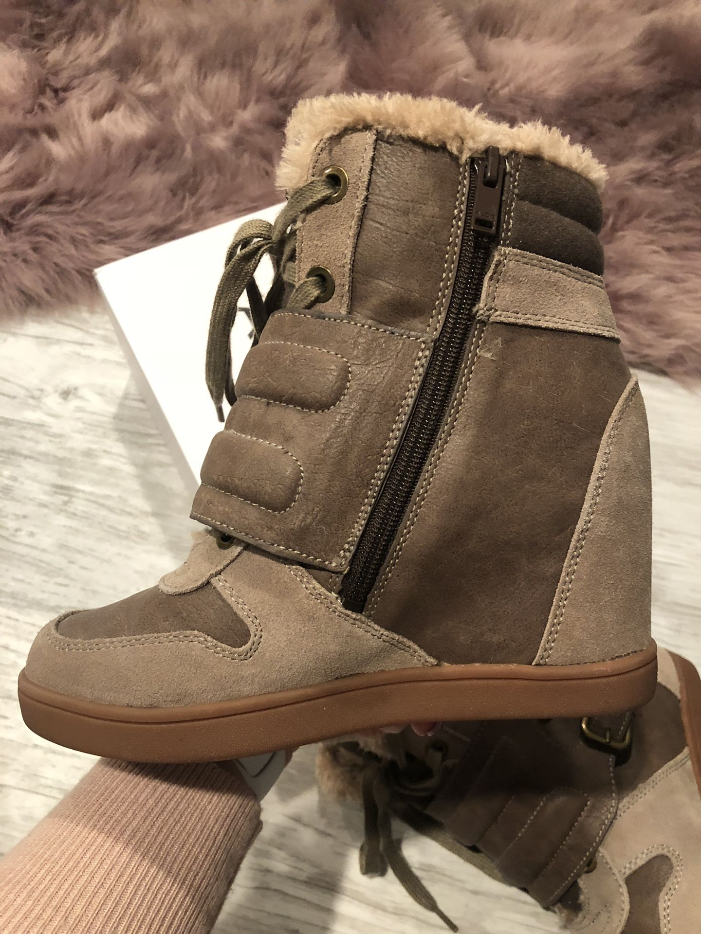 Brand NEW ALDO wedged boots!