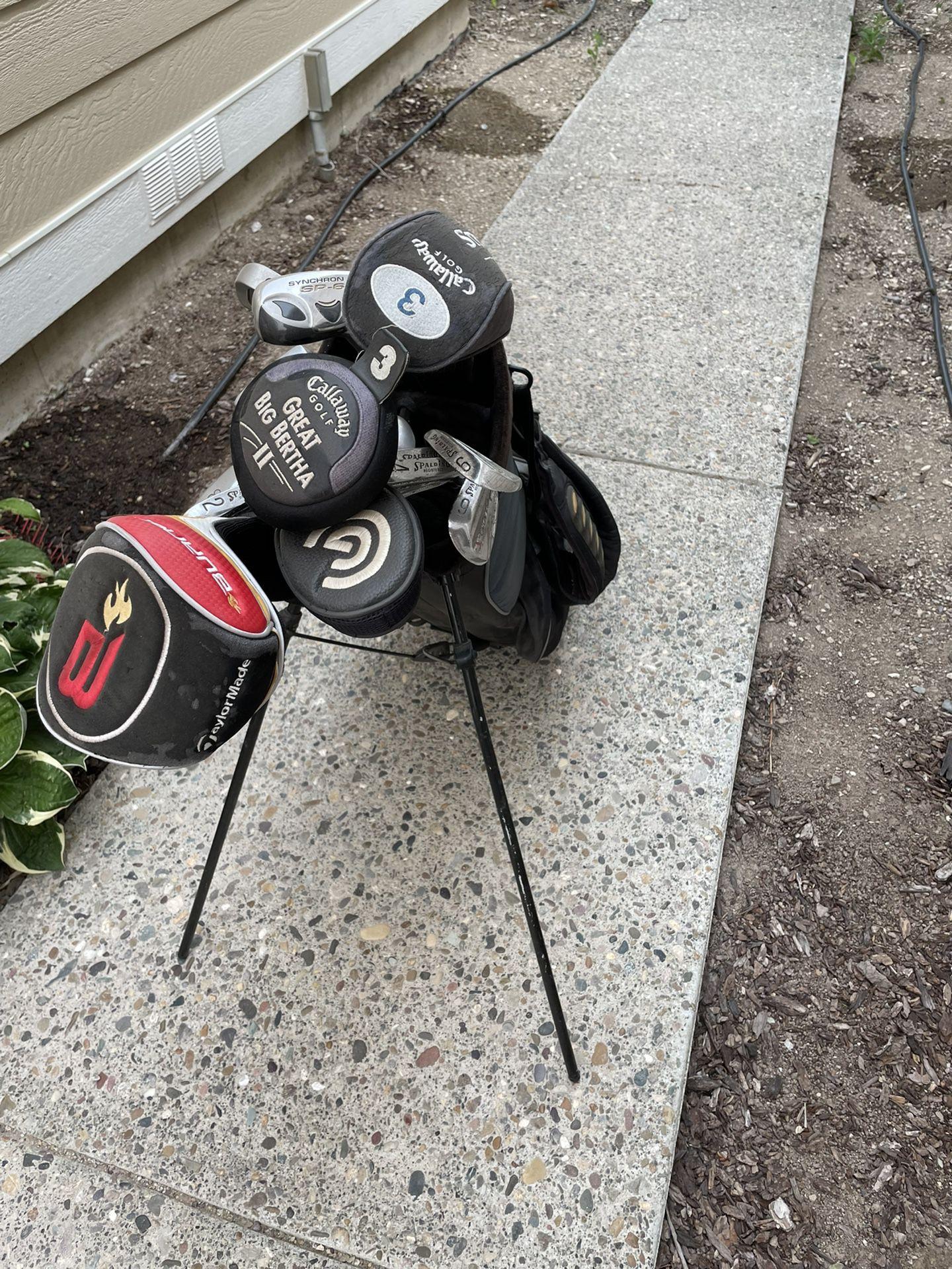 Golf Clubs, Bags, Bag Carrier