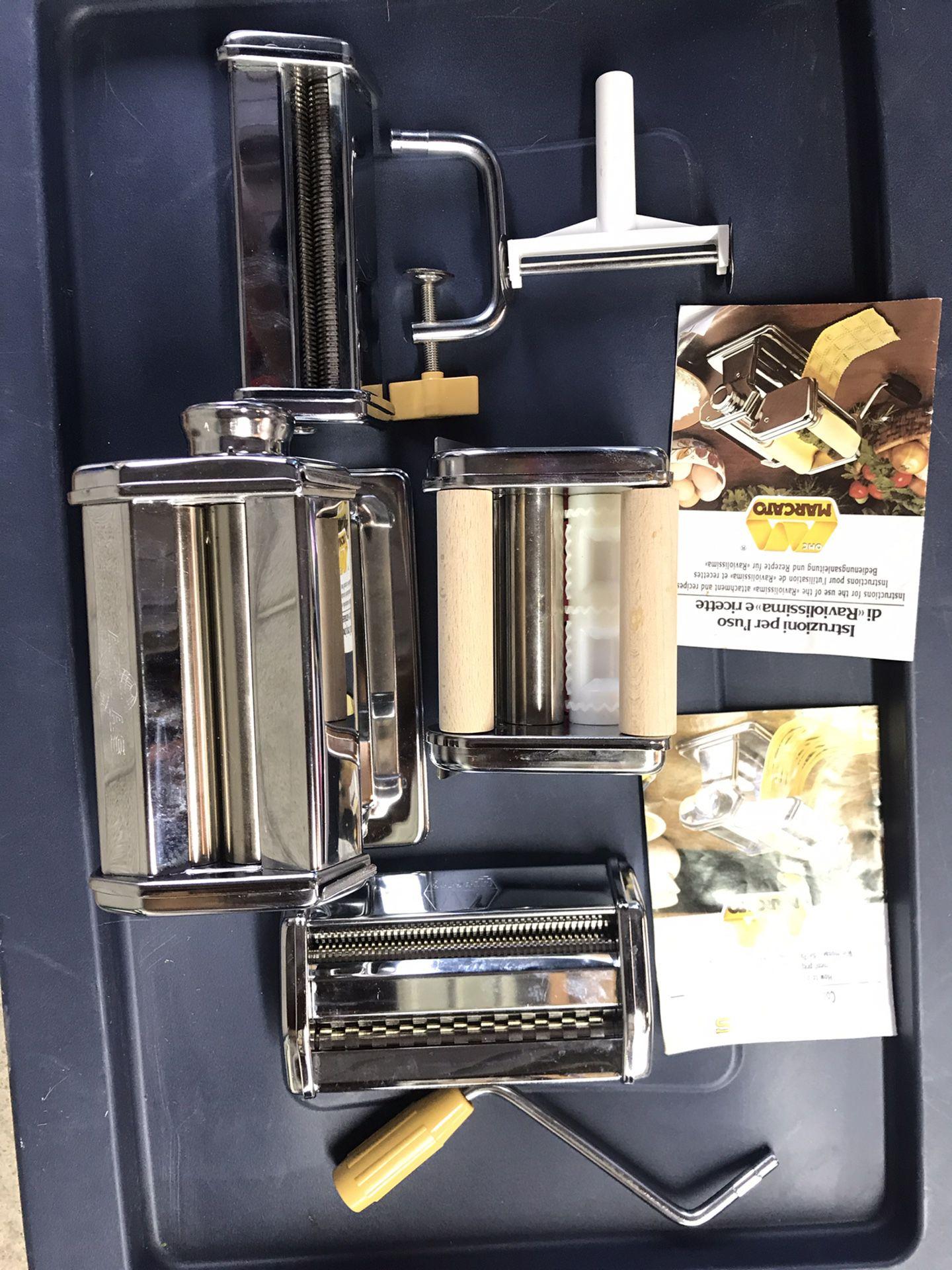Marcato Pasta Cutter Atlas 150 w/ 3 attachments
