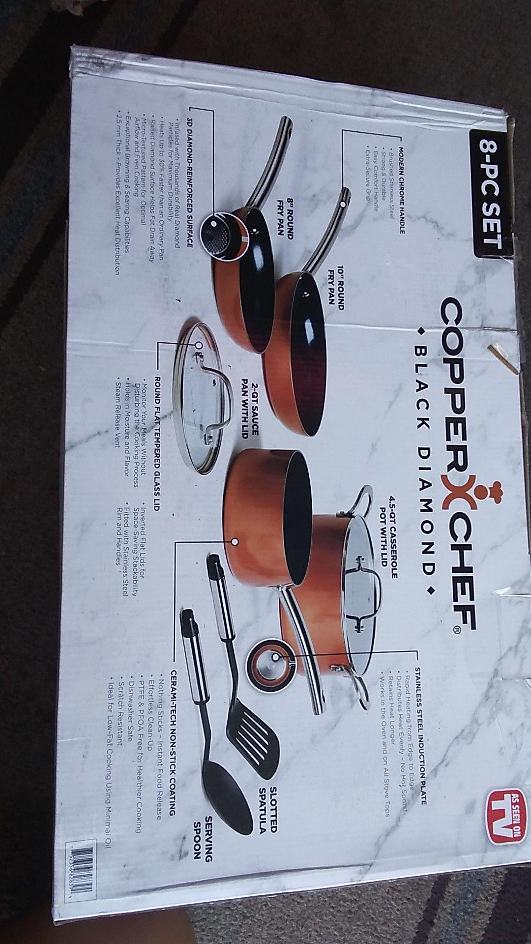 Copper Chef Black Diamond 8 Piece set