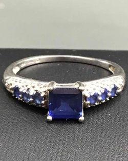 10k blue topaz ring size 6.75 Thumbnail