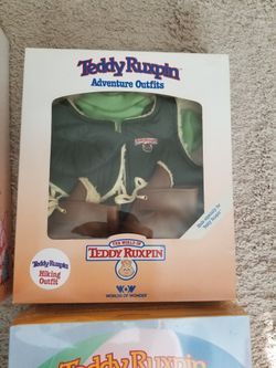 1985 Teddy Ruxpin Mint In Box With Extras. Thumbnail