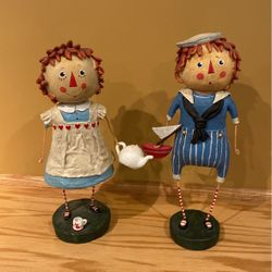 Vintage Raggedy Ann and Andy Figurines Thumbnail
