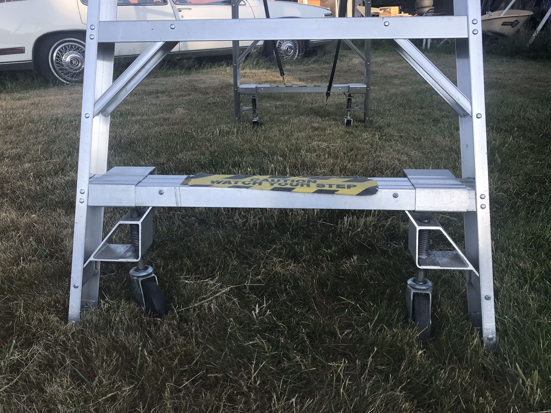 8' Wheeled A-Frame ladders