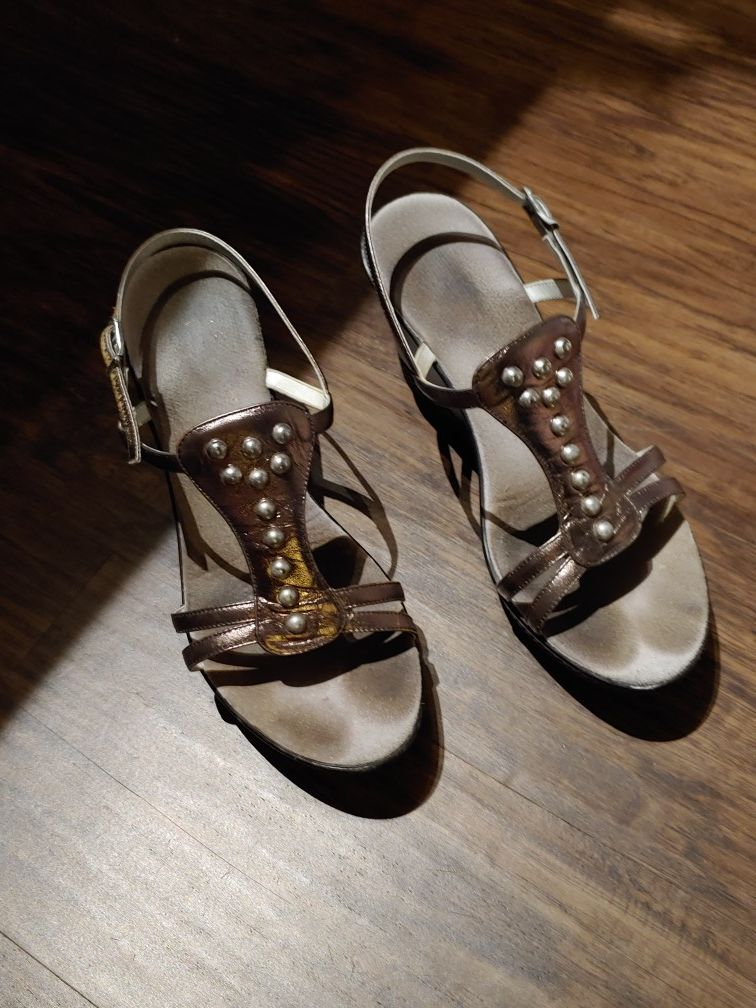 ONEX Pewter leather shoes