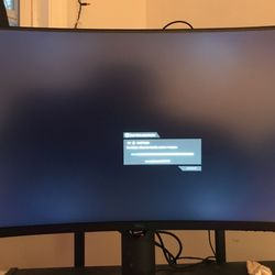 Dell 4K Curved Gaming Monitor And Keyboard Thumbnail