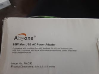 Abyone Slim 85W Power Adapter Charger with USB for Apple MacBook Pro MacBook Air Magsafe2 or MagsafeL 85W 60W 45W Power Ac Adapter, USB Port Charge fo Thumbnail