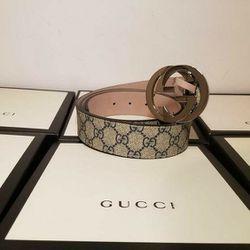 Gucci Supreme Beige Authentic Belt  Thumbnail