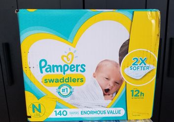 2 boxes..Pampers swaddlers size newborn enormous value pack Thumbnail