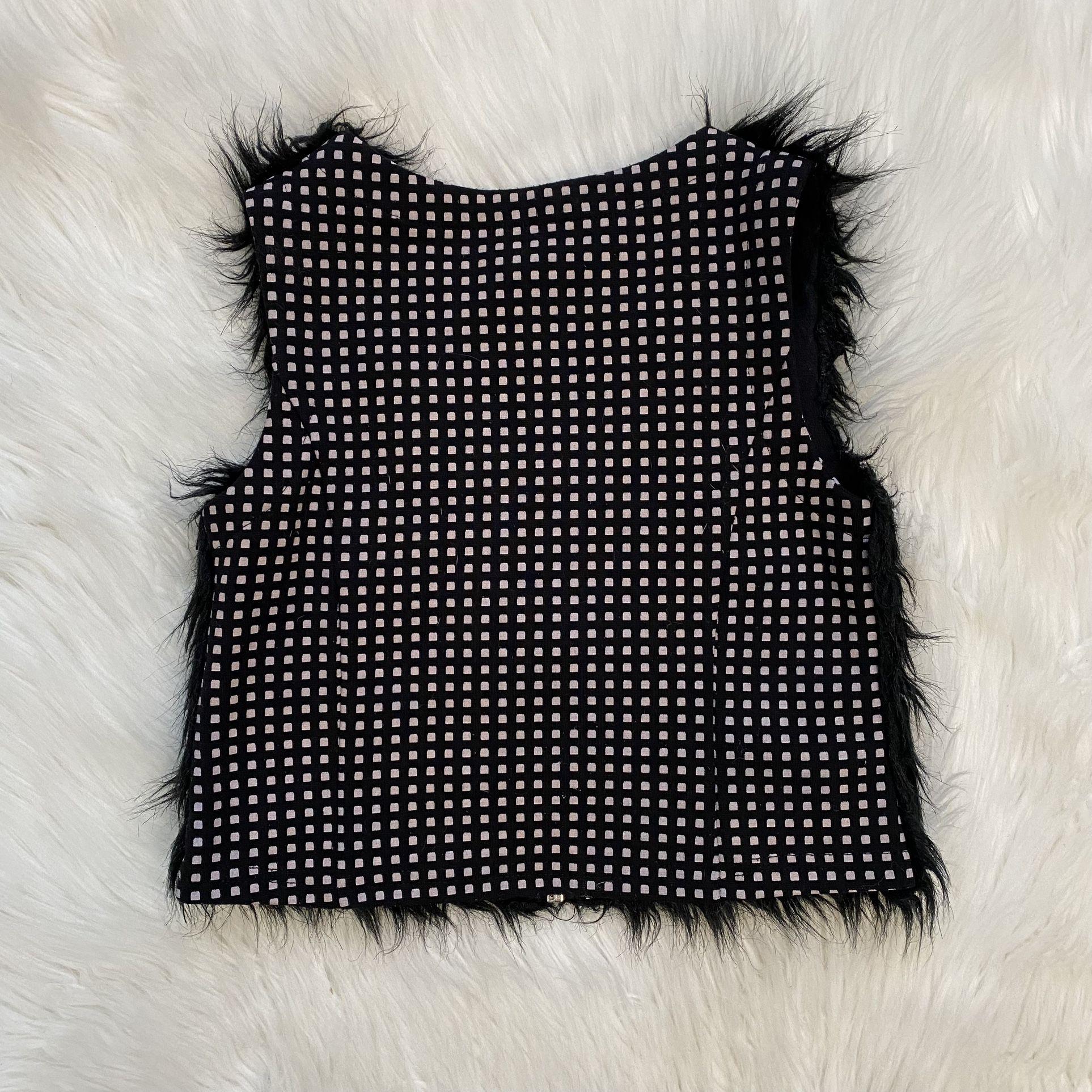 Deux Par Deux Girls Fur Vest Size 5
