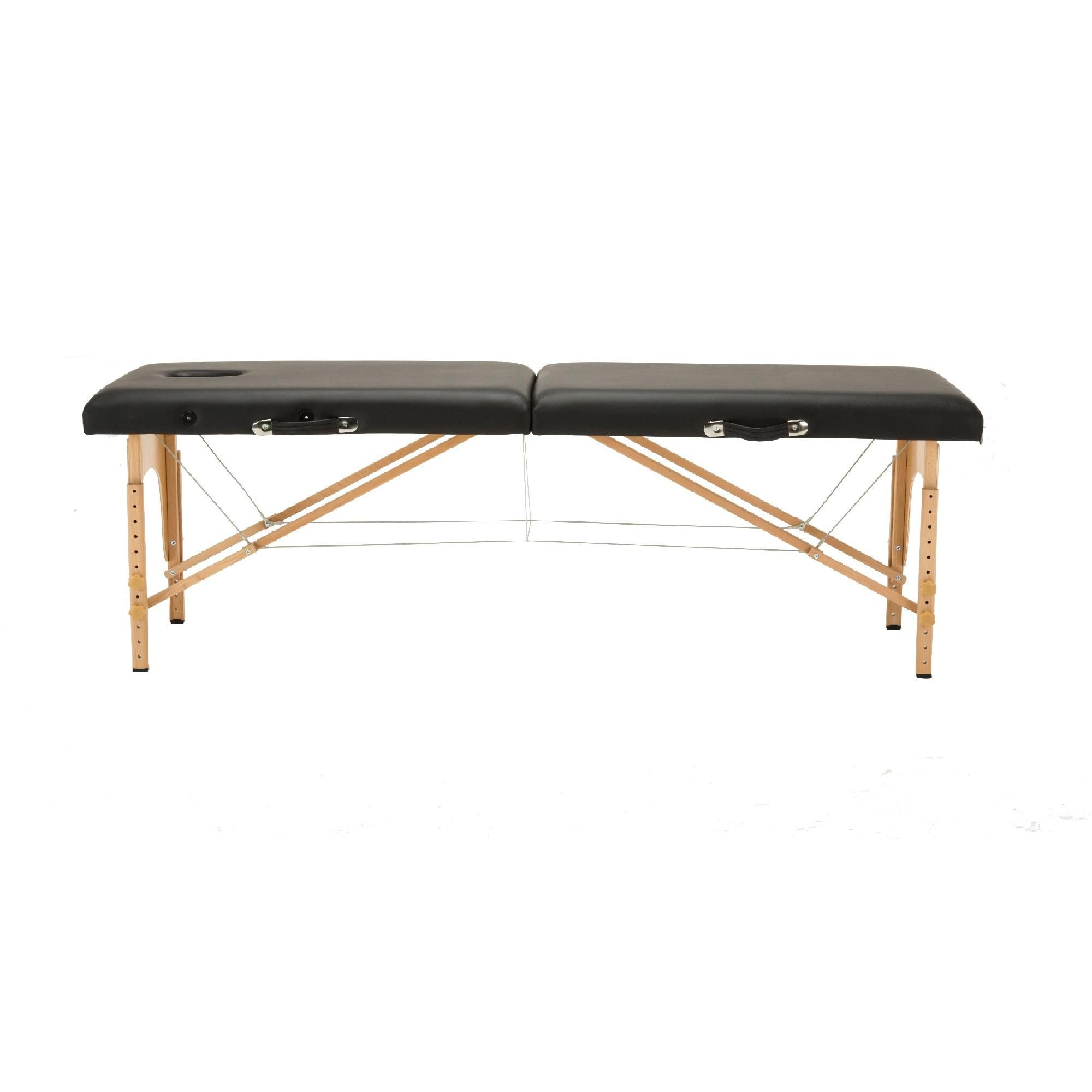 """Dermalogic Professional Portable Folding Massage Table Bed with Carrying Case, Black (74"""" L x 28"""" W)"""