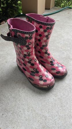Barbie rain boots size 13/1 youth Thumbnail