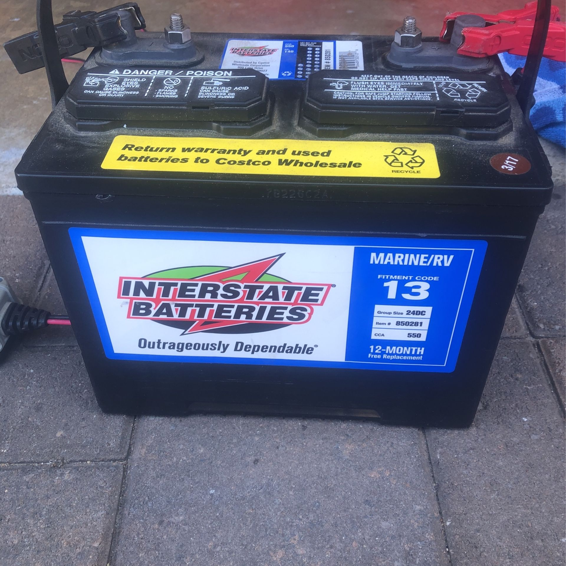 Marine/RV Battery - Lightly Used And Kept Charged - Battery Only