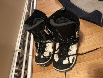 Snowboard with boots and bag Thumbnail