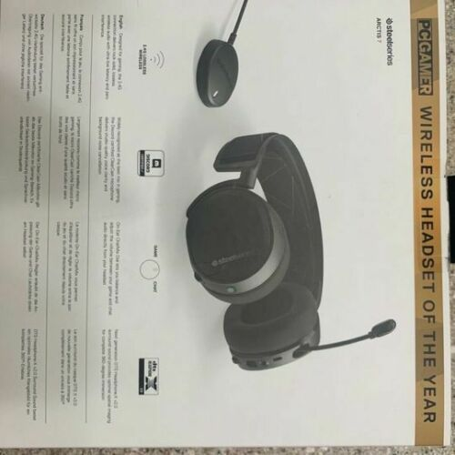 SteelSeries Arctis 7 Wireless DTS Black Gaming Headset for PC and PlayStation