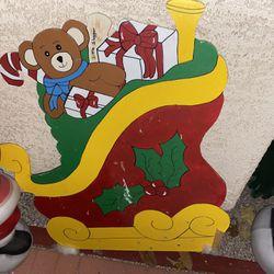 Christmas yard Cut Out Decoration Lot!! Thumbnail
