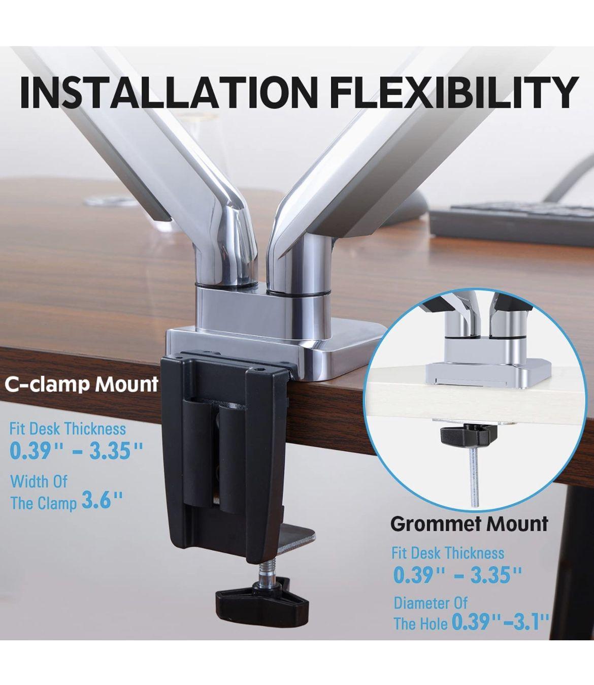 New - Dual Monitor Desk Mount - Aluminum