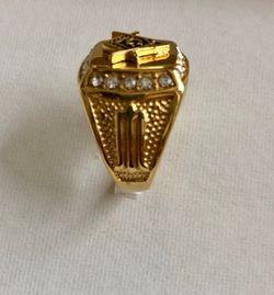 Men's •Masonic Free Mason Signet• Ring Thumbnail