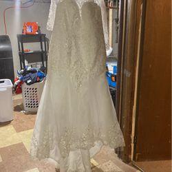 Mermaid Wedding Dress Size 20 With Mermaid Petticoat Thumbnail