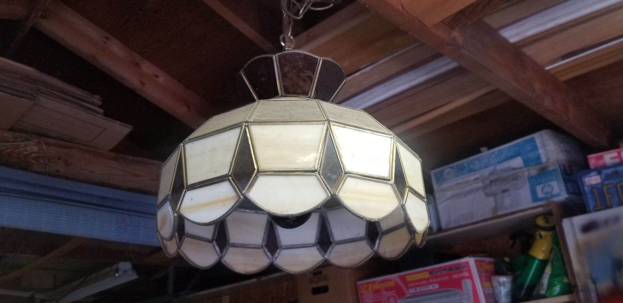 Stained glass lamp pendant
