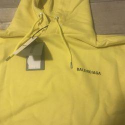 Yellow Balenciaga Hoodie Size L Thumbnail