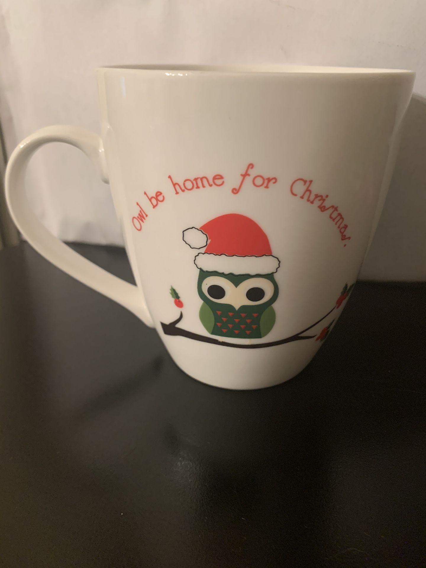 PFALTZGRAFF OWL BE HOME FOR CHRISTMAS MUG!