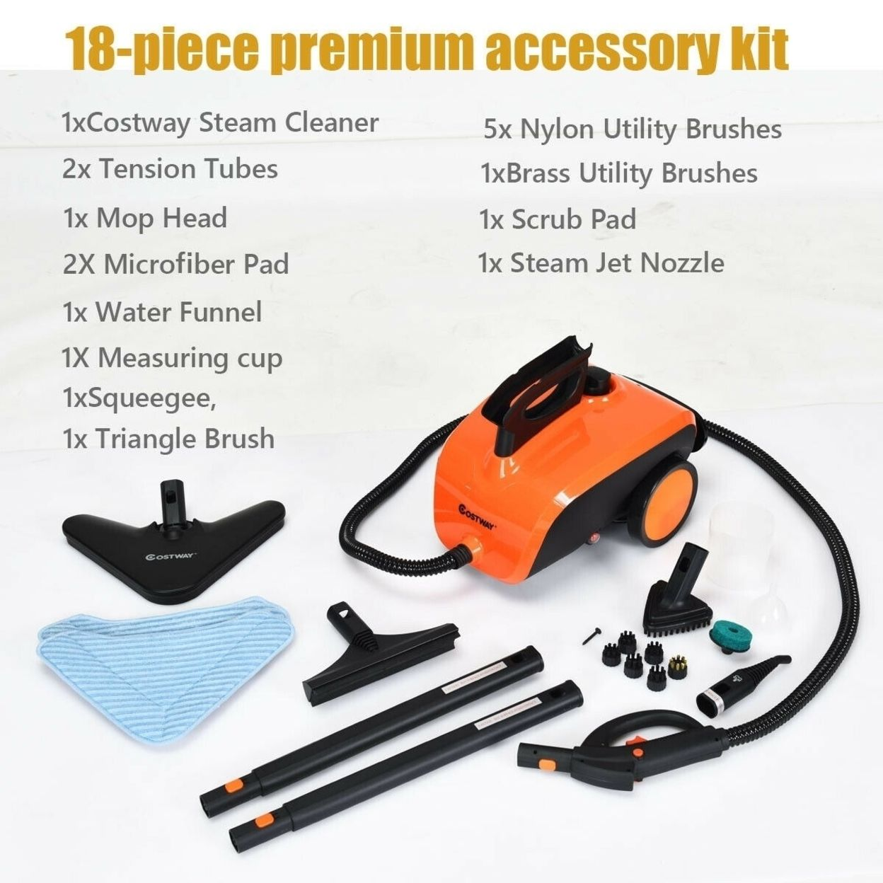 1500 W Heavy Duty Steam Multi-Purpose Cleaner Mop