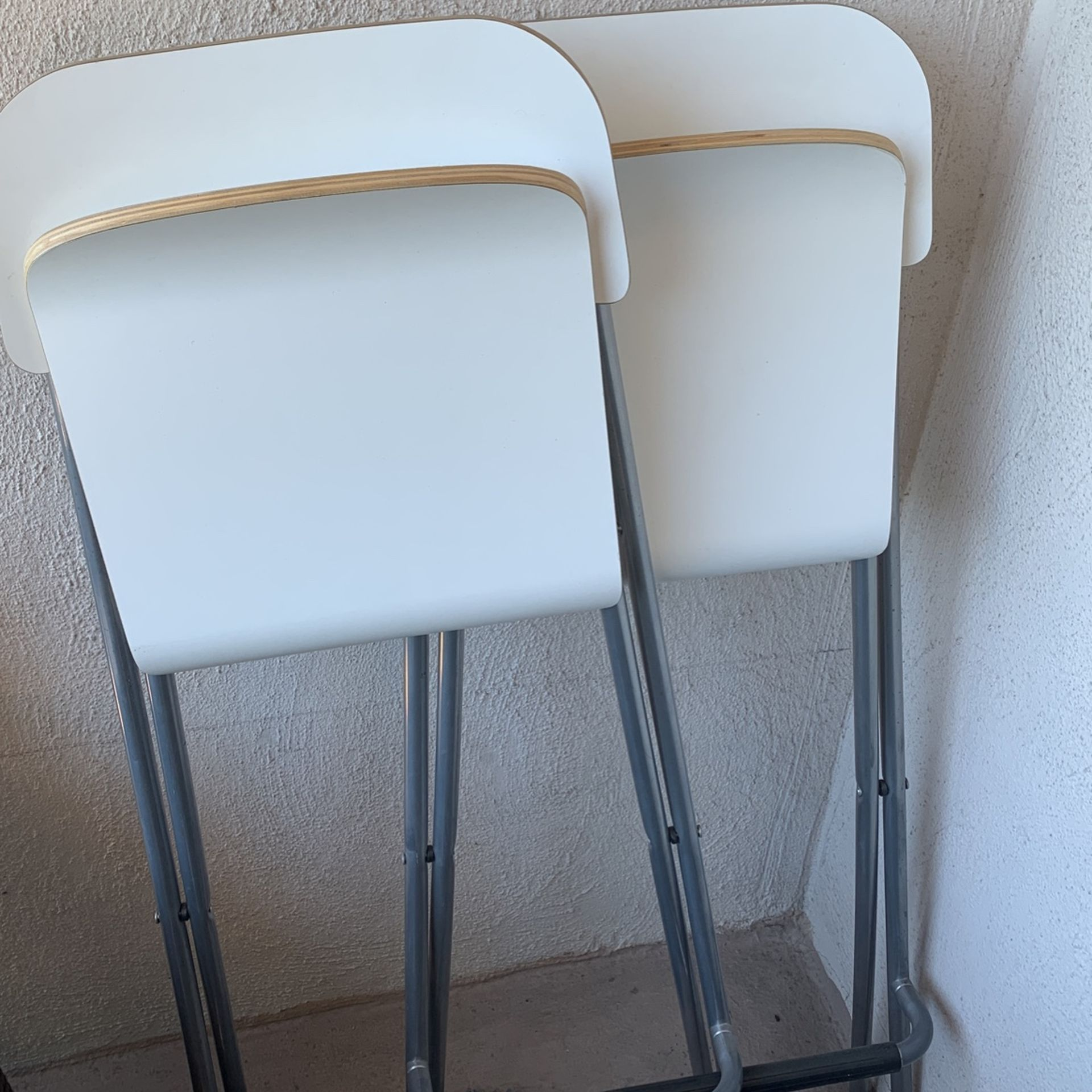 Brown High top Table And 2 Additional Ikea Chairs