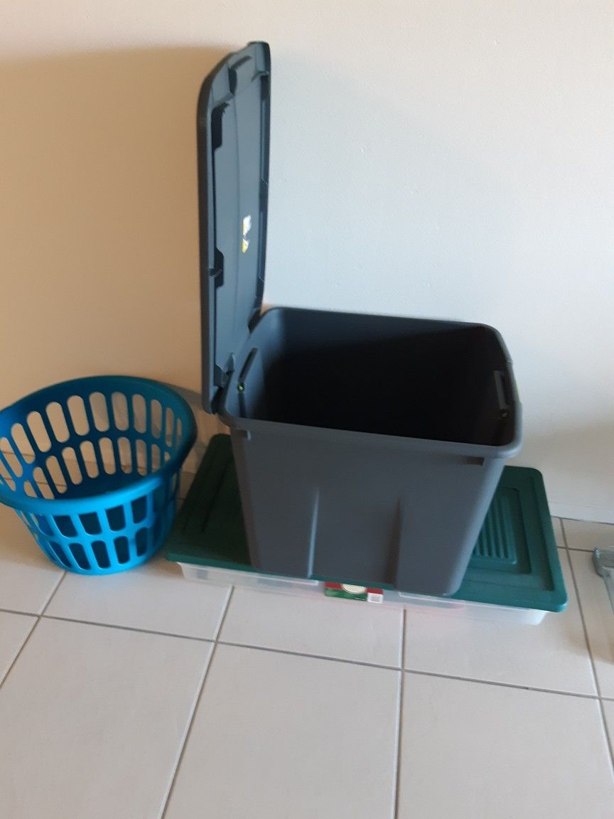 3 BINS STORAGE/CONTAINERS ALL FOR $15