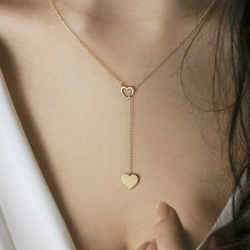 Women's Fashion Jewelry 925 Sterling Silver Gold Plated Infinity Heart Necklace