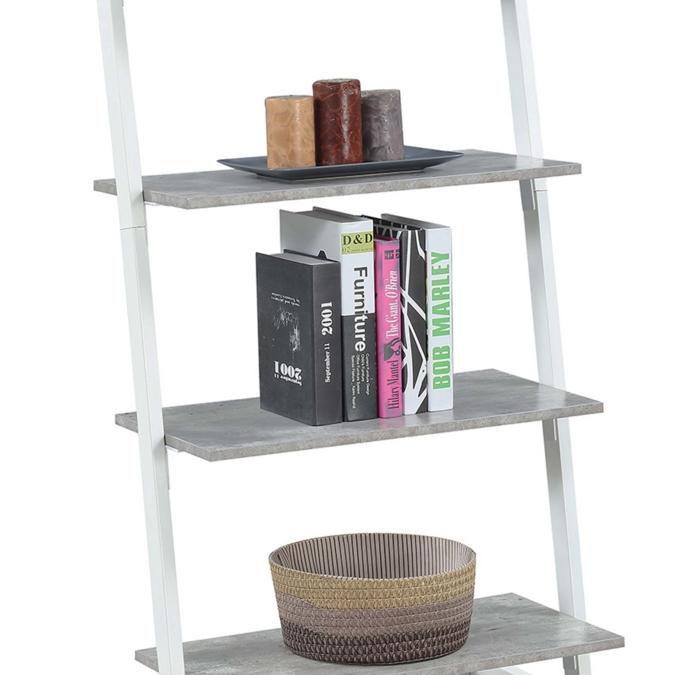 Graystone 4 Tier Ladder Bookcase/shelf, White