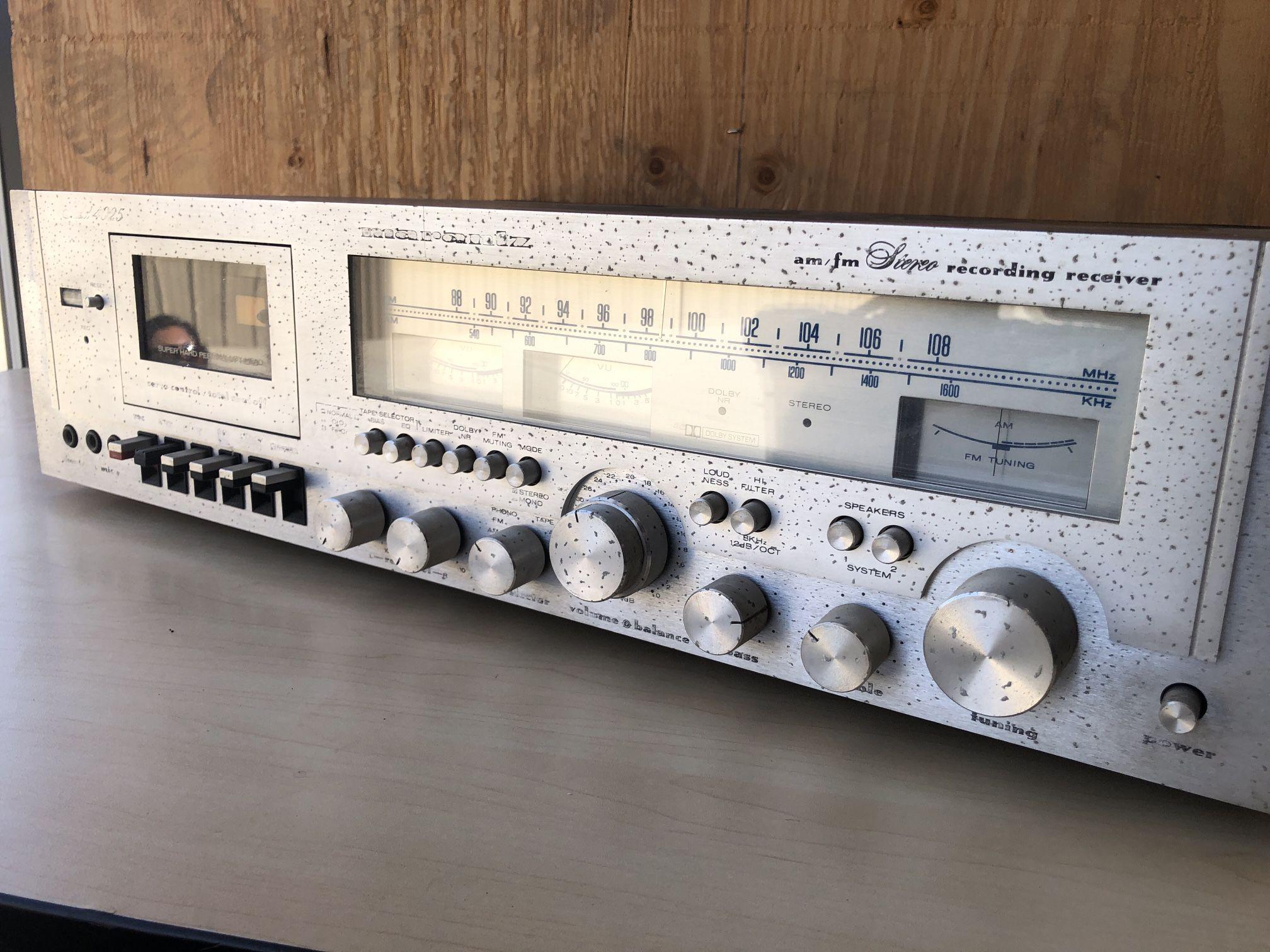 Marantz 4025 Stereo Receiver w/ Tape Deck Rare Vintage