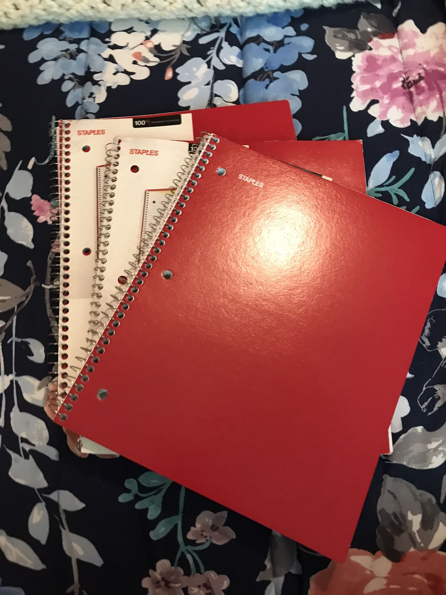 Notebook Bundle Red New Lined School Office Set