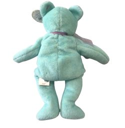 Ty Beanie Babies Ariel The Bear Blue Plush Beanbag Toy -Collectable/Collectible Thumbnail