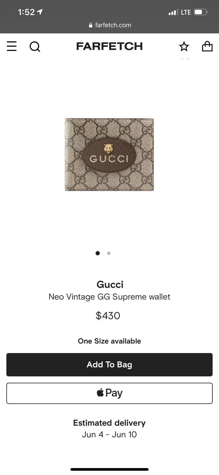 Gucci Neo Vintage GG Supreme wallet