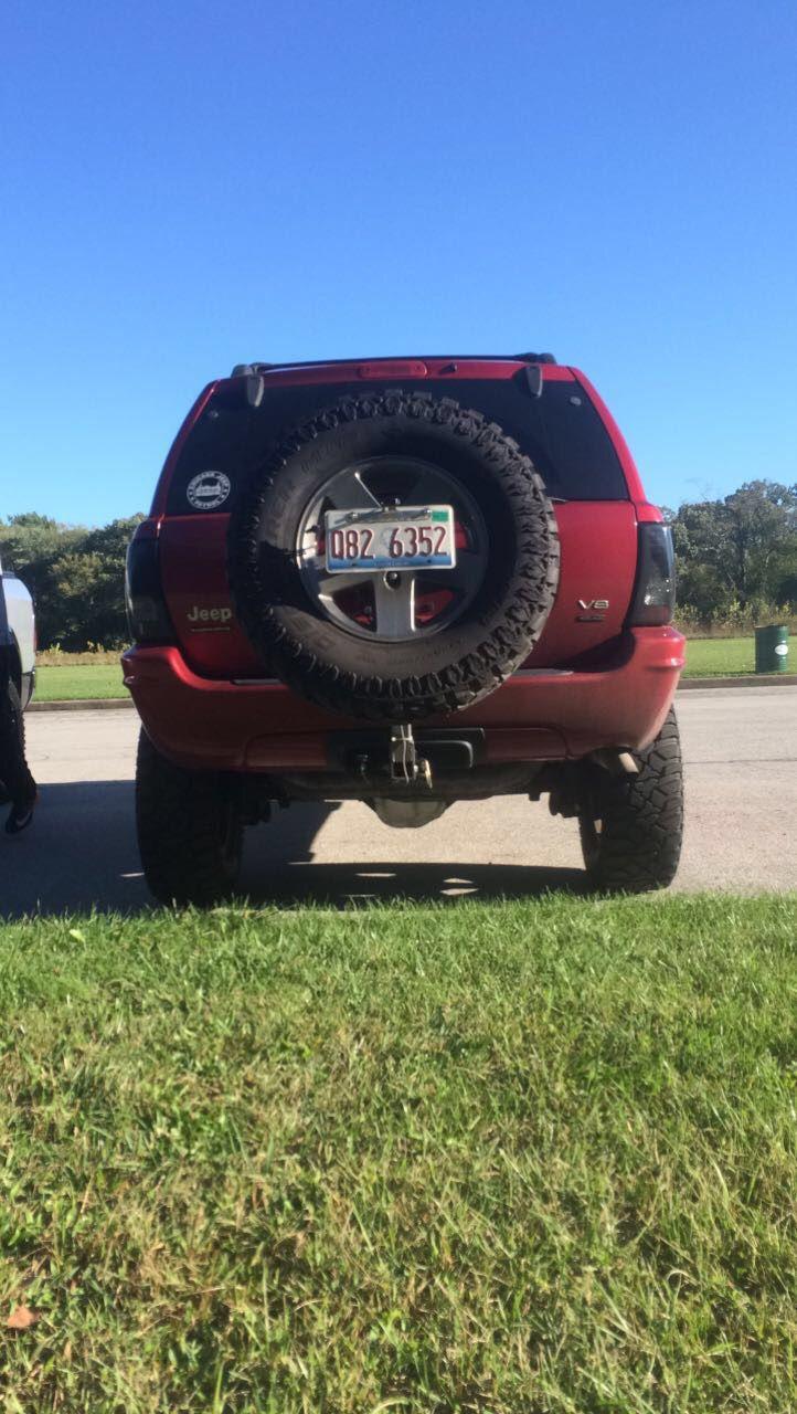 Tire carrier 5x5 bolt pattern standard 2 inch