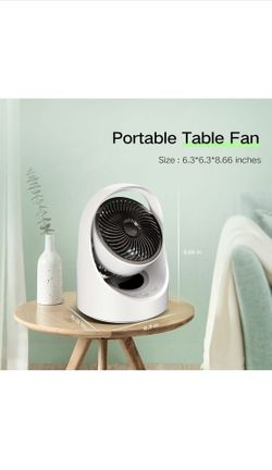 Air Circulator Fan Rechargeable Desk Fan Portable Oscillating Cordless Fan  Thumbnail