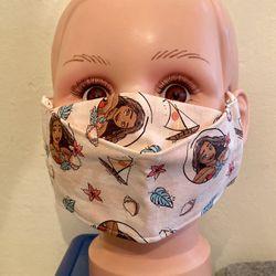 Disney Moana Kid Size 3D Face Mask  Thumbnail