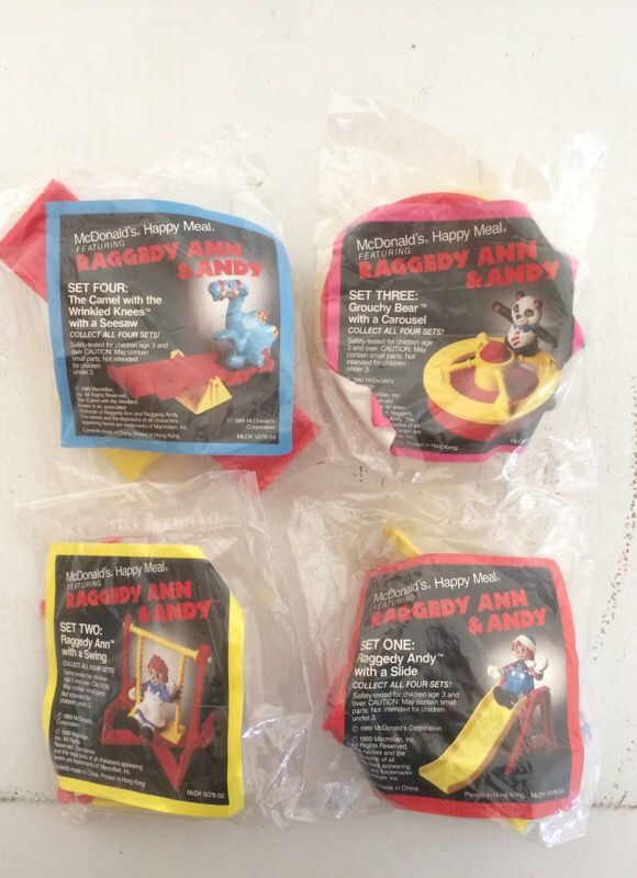 Complete Set Of McDonald's Raggedy Ann & Andy